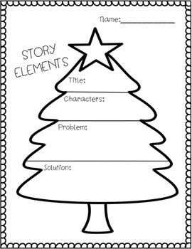 Story Maps (Christmas Themed) by Sweet Moments in Teaching