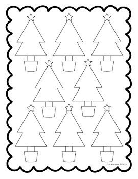 Christmas Tree 3-Digit Addition {With and Without