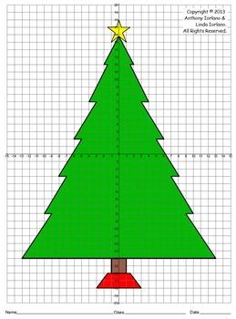 Christmas Tree Four Quadrants Coordinate Drawing