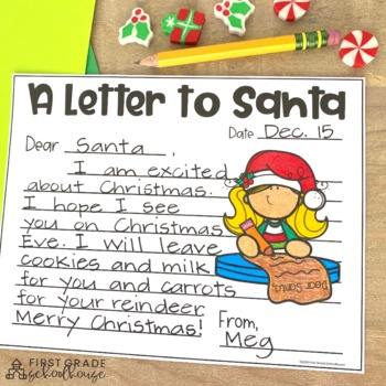 Christmas Writing for First Grade by First Grade
