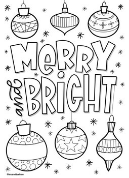 Christmas coloring pages bundle 3 by Mrs Arnolds Art Room