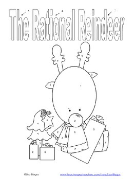 Christmas/Holiday Compare & Order Rational Number Coloring