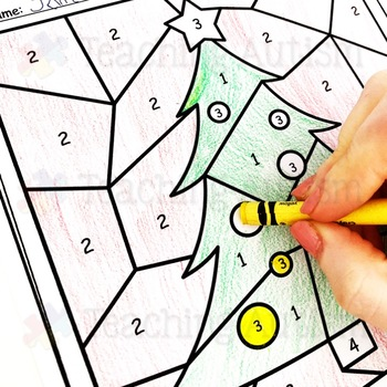 Christmas Activities Color by Number Colour by Number by