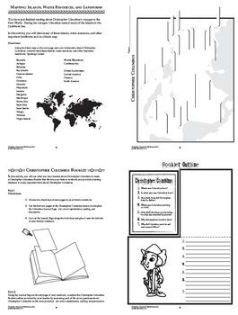 Christopher Columbus Spanish Explorer Interactive Notebook