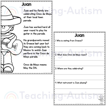 Cinco de Mayo Reading Comprehension Passages and Questions