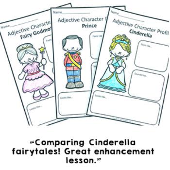 Parts of Speech: Cinderella Nouns Adjectives Grammar