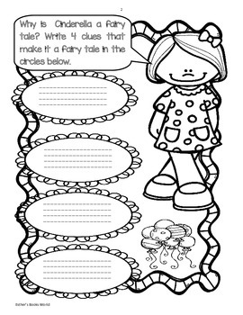 Cinderella Story Activity Freebie by Esther's Books World