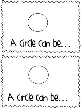 Circle Shape Book: A circle can be by Deep in the Heart of