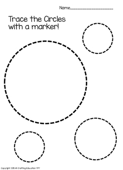 Circle Sort Trace Color And Find By Crafting Education