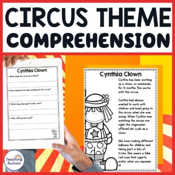 Circus Reading Comprehension Passages and Questions by
