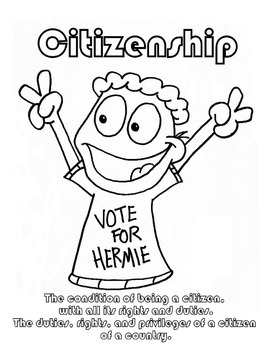 Citizenship Character Education Coloring sheet by Hey