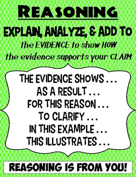 Claim Evidence And Elaboration Anchor Charts By Vavoom