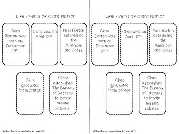 Clara Barton Biography and Timeline Activity by