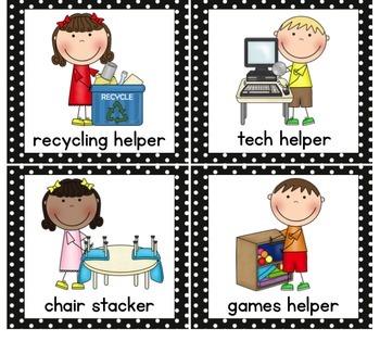 Class Helpers Chart by Karen Cox  Teachers Pay Teachers