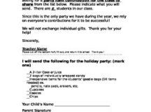 Class Holiday Party Letter (English and Spanish) by 4 The ...