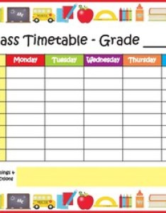 Class timetable school freebie also by my adorable rh teacherspayteachers