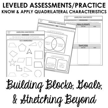 Classifying Quadrilaterals Worksheets 4th Grade Geometry 4