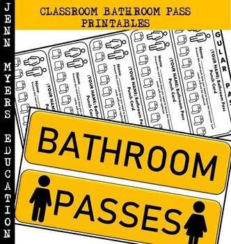 Classroom Bathroom Pass Printable [Editable Version