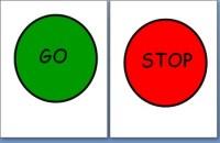 Classroom Bathroom Stop/Go Sign by Sarah Harwood | TpT