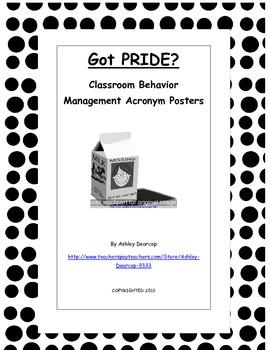 Classroom Behavior Management Acronym Posters: Got PRIDE