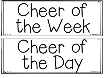 Classroom Celebration Cheer Posters by Melissa Freshwater