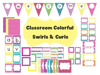 Classroom Decor Set EDITABLE Banner Word Wall Signs And More