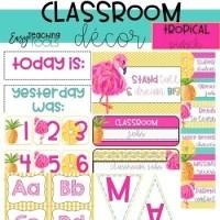 Tropical Pineapple and Flamingo Classroom Theme Decor ...