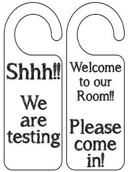 Classroom Door Hangers (200 FOLLOWER FREEBIE) by Rockin