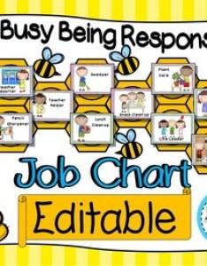 Classroom job chart and labels bee owl theme editable also chore charts teaching resources teachers pay rh teacherspayteachers