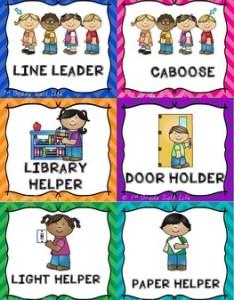 Classroom jobs clip chart also by st grade salt life tpt rh teacherspayteachers