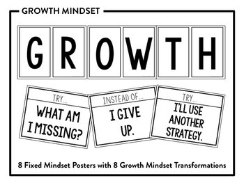 Classroom Posters for Middle School: Growth Mindset by