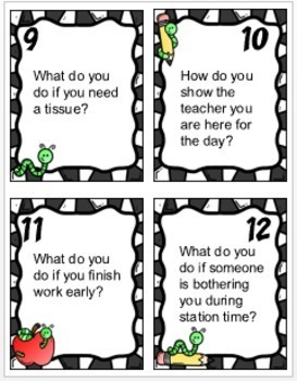 Classroom Procedures and Routines Activities and Task