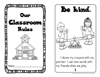 Classroom Rules Booklet and Signs by The Imagination Nook