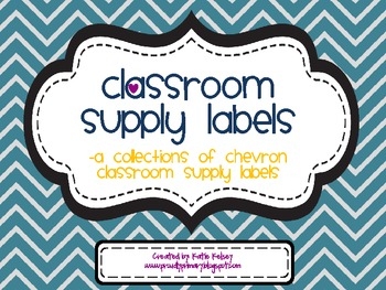 Classroom Supply LabelsBack To School Chevron TpT