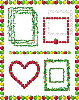 Clip Art Apples Borders Amp Frames By Thematic Teacher TpT