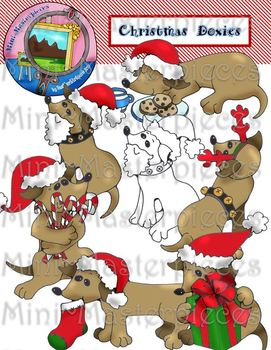 clip art christmas dachshund dogs