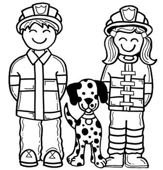 Clip Art~ Fire Prevention Kids by Cara's Creative