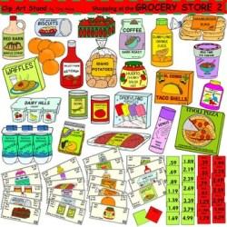 grocery clipart clip math shopping supermarket groceries prices worksheets teaching go activities convenience children teacherspayteachers adding cliparts fun creative activity