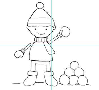 Snow-themed Clipart images {January} by A First Grade Life