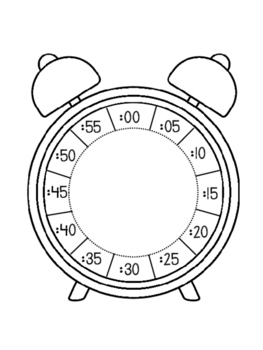 Clock Foldable. Telling Time to 5 Minutes. Math