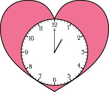 clocks clip art heart