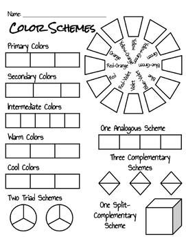 Color Scheme Activity Sheet by Family and Consumer
