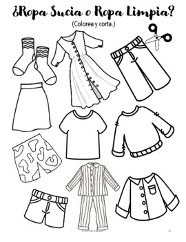 Clothing in Spanish (16 fun worksheets!) by Mi Camino