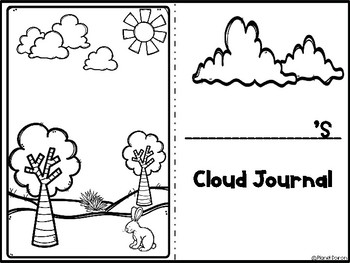 Cloud journal daily log low prep foldable by Planet Doiron