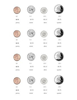 Coin Reference Sheet *No Prep* Money by First Grade Fab
