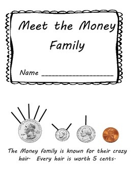 Coin Values & Counting Mini Book and Worksheet: Hairy