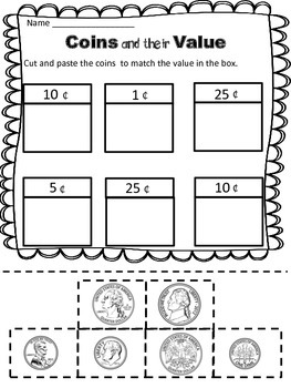 Money Worksheets: Coin Identification Worksheets and
