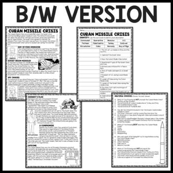 Cold War- Cuban Missile Crisis Reading Comprehension