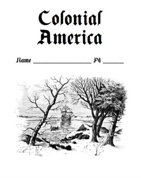Colonial America Notes Packet (Version 1) (Graphic