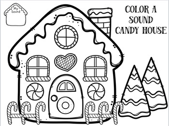 Color A Sound Candy House! Early Targets! Speech Therapy